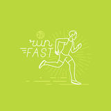 Vector running and sport motivation poster Stock Photography