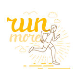 Vector running and sport motivation poster Stock Images