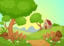 Vector rural del paisaje libre illustration