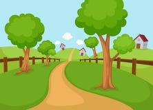 Vector rural del paisaje ilustración del vector