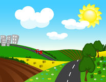 vector Rural landscape Stock Image