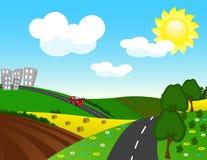 vector Rural landscape Stock Image