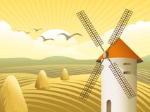 Vector rural landscape Royalty Free Stock Images