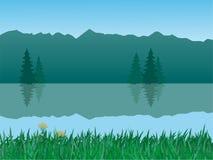 Vector rustig landschap Royalty-vrije Stock Afbeelding