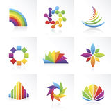 Vector símbolos coloridos Fotografia de Stock Royalty Free