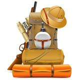 Vector Safari Accessories Stock de ilustración