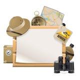 Vector Safari Frame. On white background Stock Images