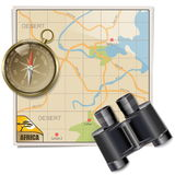 Vector Safari Map Stock Images