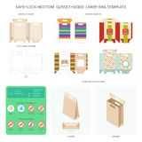 Vector Safe Lock Bottom Carry Bag Templates Set Stock Photos