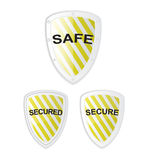 Vector Safe Secure Shield Royalty Free Stock Photo