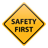 Vector safety first. Warning isolated Royalty Free Stock Photos