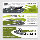 Vector safety road construction and travel banners Stock Photo