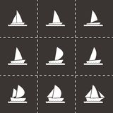 Vector sailboat icon set Stock Photo