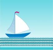 Vector sailing boat Stock Image