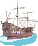 Vector. Sailing ship. Stock Images