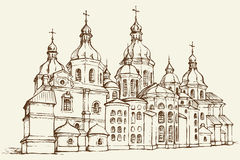 Vector Saint Sophia Cathedral in Kiev, Ukraine Stock Photography