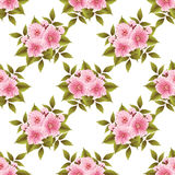 Vector sakura flower seamless pattern background. Elegant cherry blossom texture for backgrounds. Royalty Free Stock Photo
