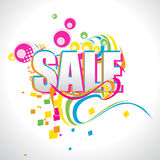 Vector sale background Stock Image
