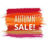 Vector Sale Background from Brush Strokes Royalty Free Stock Image