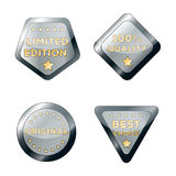 Vector sale badges. Set of vector metal badges and stickers for promo sales Stock Image