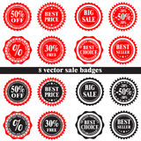 Vector sale badges Royalty Free Stock Image