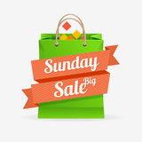 Vector sale bag labels concept Royalty Free Stock Photos