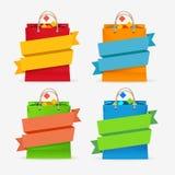 Vector Sale Bag Labels Set Royalty Free Stock Photo