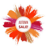 Vector Sale Banner from Brush Strokes Stock Photography
