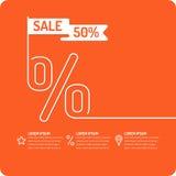 Vector Sale banner. Original concept poster discount sale. Sale banner. Vector illustration on red background Stock Photo