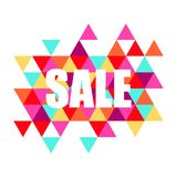 Vector sale banner, poster. Colorful illustration. Use for advertising, web. stock illustration