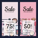 Vector sale banners for beauty shop Stock Photography