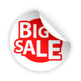 Vector sale bent sticker Stock Images