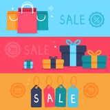 Vector sale concept in flat style Stock Images