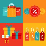 Vector sale concepts in flat style Stock Photo