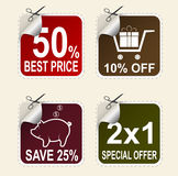 Vector sale coupons Stock Photography