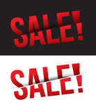 Vector SALE cut on Black and White Royalty Free Stock Photography