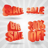 Vector sale design elements 3d stock photography