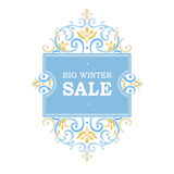 Vector sale discount banner in Victorian style. Stock Photography