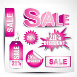 Vector sale elements Royalty Free Stock Image