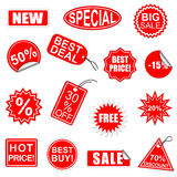 Vector Sale Elements Set 1 Stock Photography