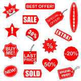 Vector Sale Elements Set 2. Red Vector Sale Elements for Business Stock Photo