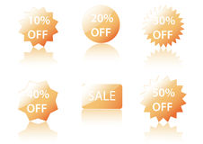 Vector Sale Icons. Vector sale icons for shops. Easy to edit Stock Photography