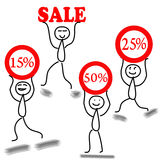 Vector sale Royalty Free Stock Image