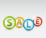 Vector sale label Stock Images