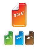 Vector sale labels. In different colors Royalty Free Stock Photo