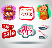 Vector sale labels Stock Images