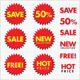 Vector sale labels Stock Image