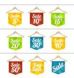 Vector sale labels set Stock Photo