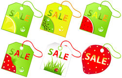 Vector Sale Labels. Vector Stock Photo