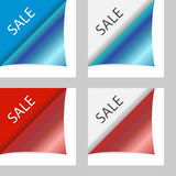 Vector sale peeling corners Royalty Free Stock Images